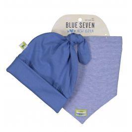 Blue Seven Chlapčenský komplet čiapky a šatky - modrý