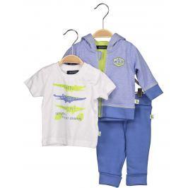 Blue Seven Chlapčenský dojčenský komplet - modro-biely