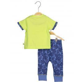 Blue Seven Chlapčenský komplet teplákov a trička s krokodílom - modro-zelený