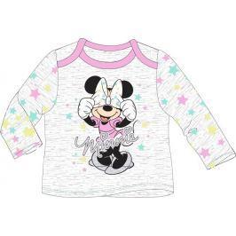 E plus M Dievčenské tričko Minnie s bodkami - šedé