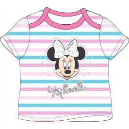 E plus M Dievčenské tričko Minnie s prúžkami - šedé