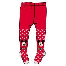 E plus M Dievčenské pančucháče Mickey Mouse - červené