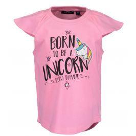 Blue Seven Dievčenské tričko s jednorožcom - ružové