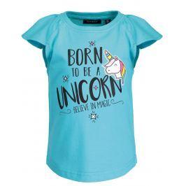 Blue Seven Dievčenské tričko s jednorožcom - tyrkysové