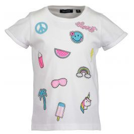 Blue Seven Dievčenské tričko s obrázkami - biele