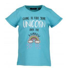 Blue Seven Dievčenské tričko s dúhou - tyrkysové