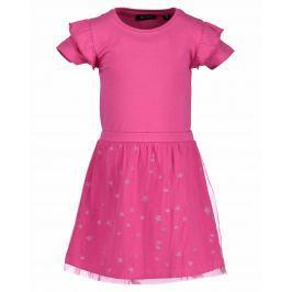 Blue Seven Dievčenské šaty - tmavo ružové
