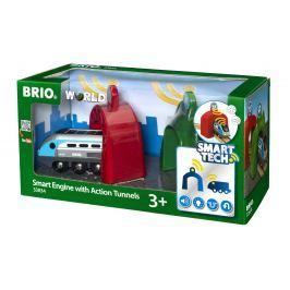 Brio WORLD SMART TECH 33834 Lokomotíva s aktívnymi tunelmi
