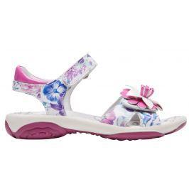 Primigi Dievčenské kvetinové sandále - bielo-ružové