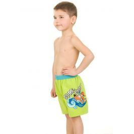 Aquaspeed Chlapčenské kúpacie šortky Surf Club - zelené