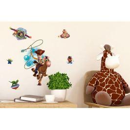 Walplus Samolepka na stenu Toy Story, 80x50 cm