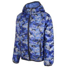 ALPINE PRO Chlapčenská maskáčová bunda Almo - modrá