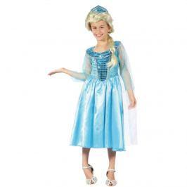 MaDe Šaty na karneval - Ľadová princezná, 120-130 cm
