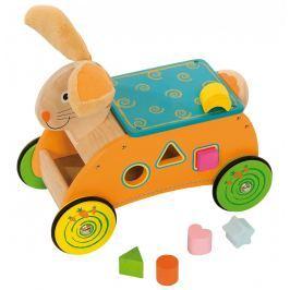 Bigjigs Drevený motorický vozík Zajac