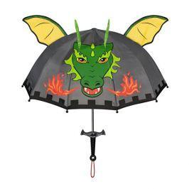 Blooming Brollies Chlapčenský dáždnik s drakom - tmavosivý