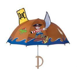 Blooming Brollies Chlapčenský dáždnik s pirátom - hnedý