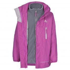 Trespass Dievčenská nepremokavá bunda 3 v 1 Prime - ružová