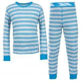 Trespass Chlapčenské pruhované termoprádlo Calum - modré