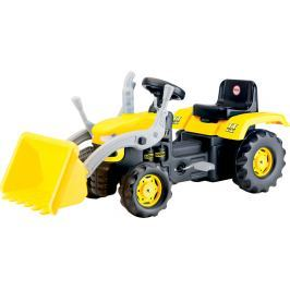 DOLU Veľký šliapací traktor s rýpadlom, žltý