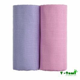 T-tomi Látkové TETRA osušky 100x90, súprava 2ks, ružová + fialová
