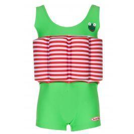 Beverly Kids Chlapčenské nadnášajúce plavky Frogboy - zeleno-červené