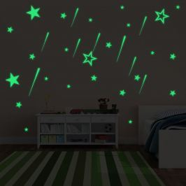 Walplus Svietiaca samolepka na stenu Hviezdy a Meteorický dážď