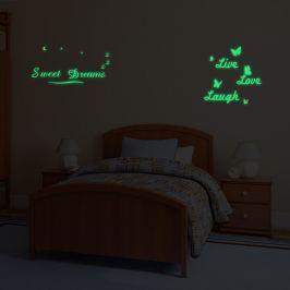 Walplus Svietiaca samolepka na stenu Sweet Dreams & Live Love Laugh