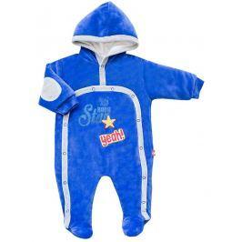 2be3 Chlapčenský zateplený overal Star - modrý