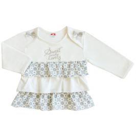 2be3 Dievčenská tunika Elegant girl - biela