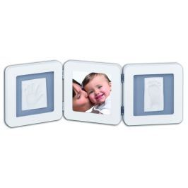 Baby Art Rámček Double Print Frame - bielo-šedý