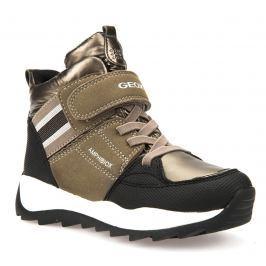Geox Dievčenské zimné topánky Orizont - zlaté