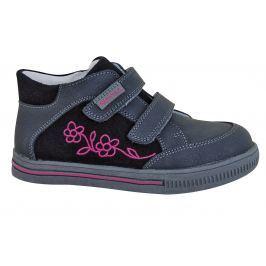 Protetika Dievčenské členkové topánky Roka - šedo-čierne