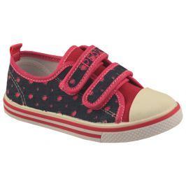 Peddy Dievčenské bodkované tenisky - modro-ružové