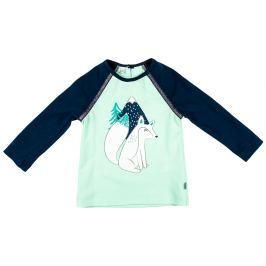 MMDadak Dievčenské tričko Fox - zeleno-modré
