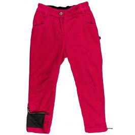 MMDadak Dievčenské nohavice Black Star - červeno-ružové