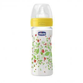 Chicco Fľaša bez BPA Well-Being silikónový cumlík, stredný, zelená 250 ml