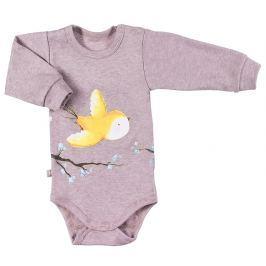 Ewa Klucze Dievčenské body Bird - béžové