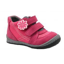 Bugga Dievčenské členkové topánky s kvetinkou - ružové