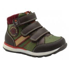 Bugga Chlapčenské členkové topánky - hnedo-zelené