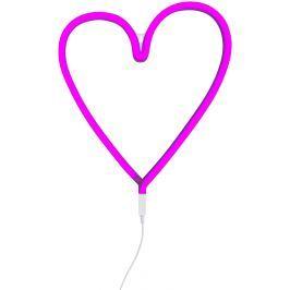 Little Lovely Company Neónové svetielko, srdce ružové