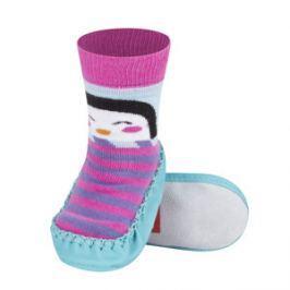 SOXO® Dievčenské ponožky s podrážkou Tučniak - farebné