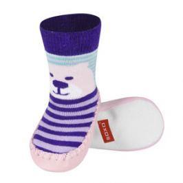 SOXO® Dievčenské ponožky s podrážkou Medveď - farebné