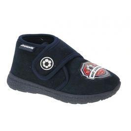 Beppi Chlapčenské futbalové papučky - modré