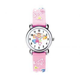 Cannibal Dievčenské hodinky s obrázkami - ružové