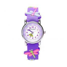 Cannibal Dievčenské hodinky s vážkami - fialové