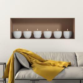 Ambiance Samolepiace dekorácie 3D efekt, sviečky