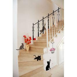 Ambiance Samolepky na stenu mačky - čierna