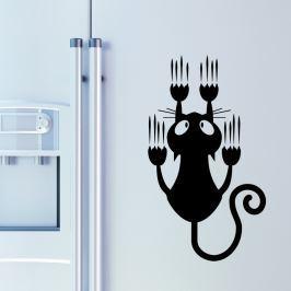 Ambiance Samolepka na stenu, čierna mačka