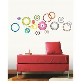Ambiance Samolepky na stenu, farebné krúžky
