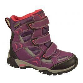Peddy Dievčenské outdoorové topánky s membránou - fialové